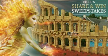 The Goddess Tyche Celebrates Arrival With A Sweepstakes