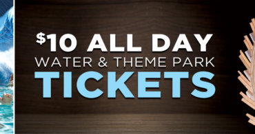 $10 All Day Water & Theme Park Tickets