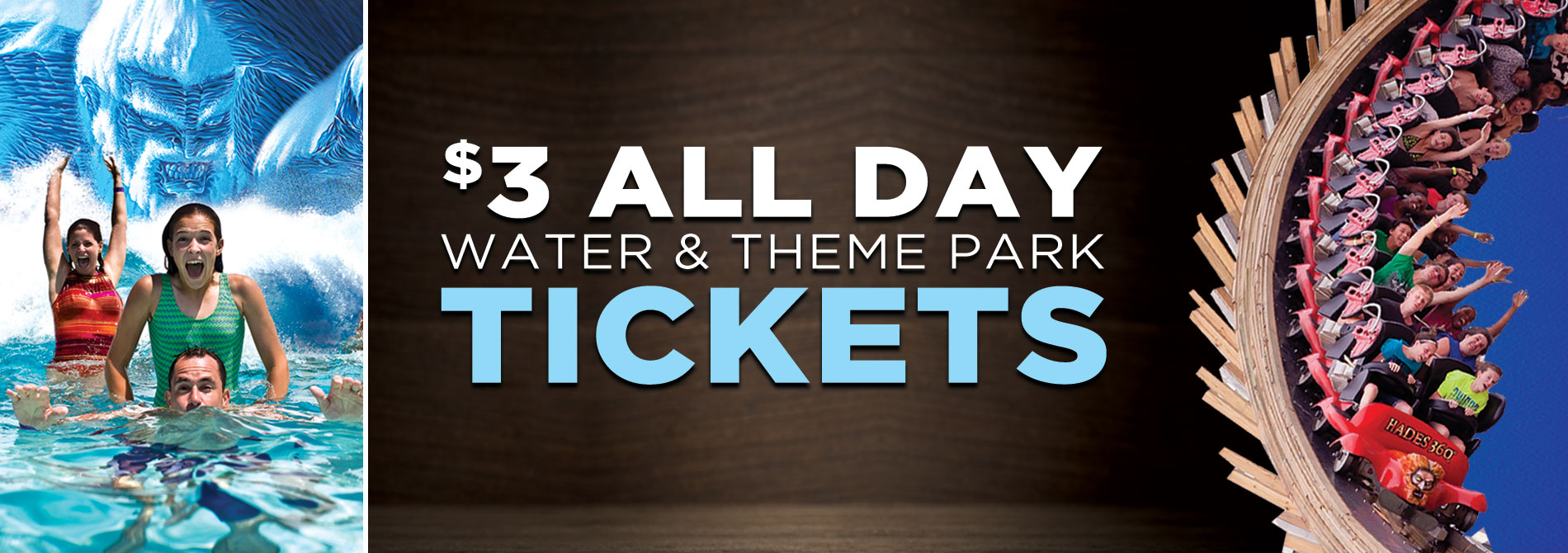 3 Tickets Mt Olympus Water Amp Theme Park