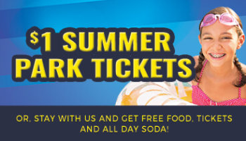 $1 Water & Theme Park Tickets