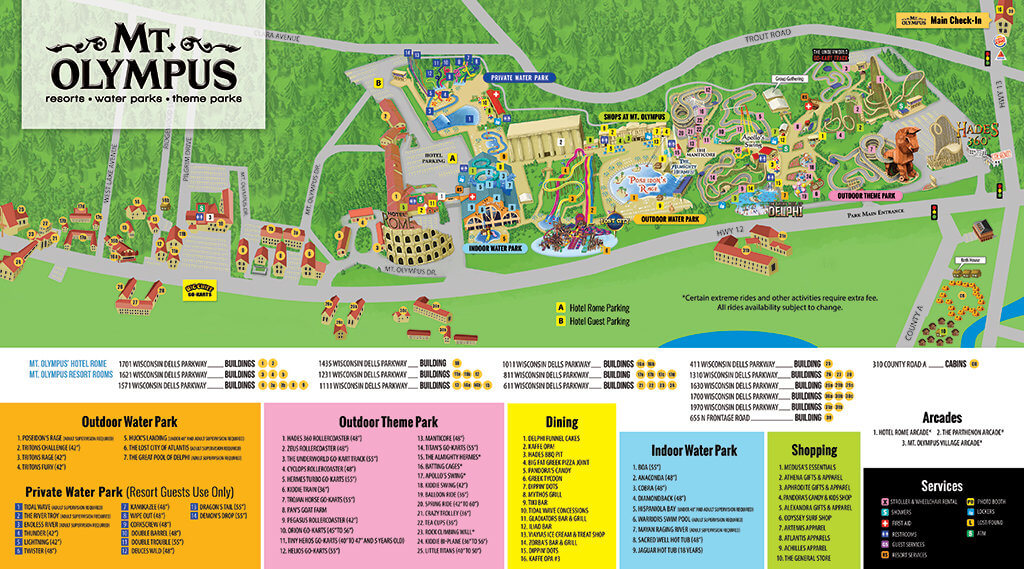 Map Of Wisconsin Dells Resort Map – Mt. Olympus