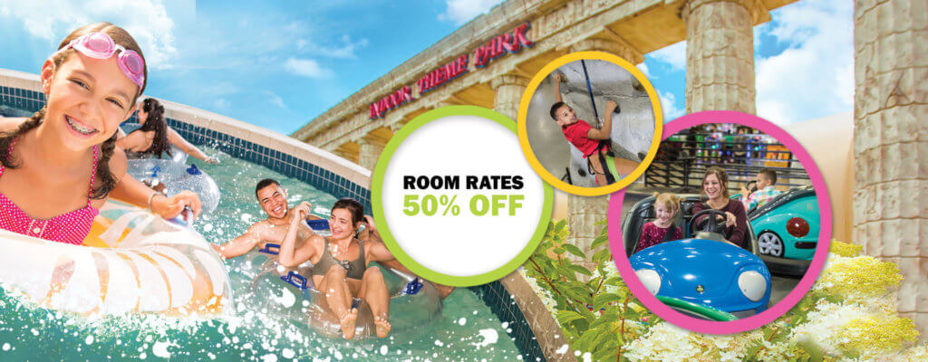 50% off Room Rates when you pay Now. Check out our Spring Deals.
